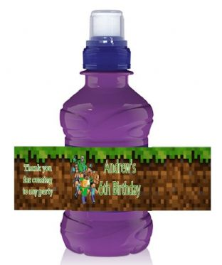 Minecraft Bottle Label Wrapper.